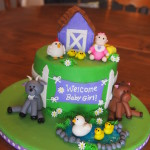 Farm Baby Shower Cake