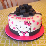 Black and Pink Hello Kitty Cake