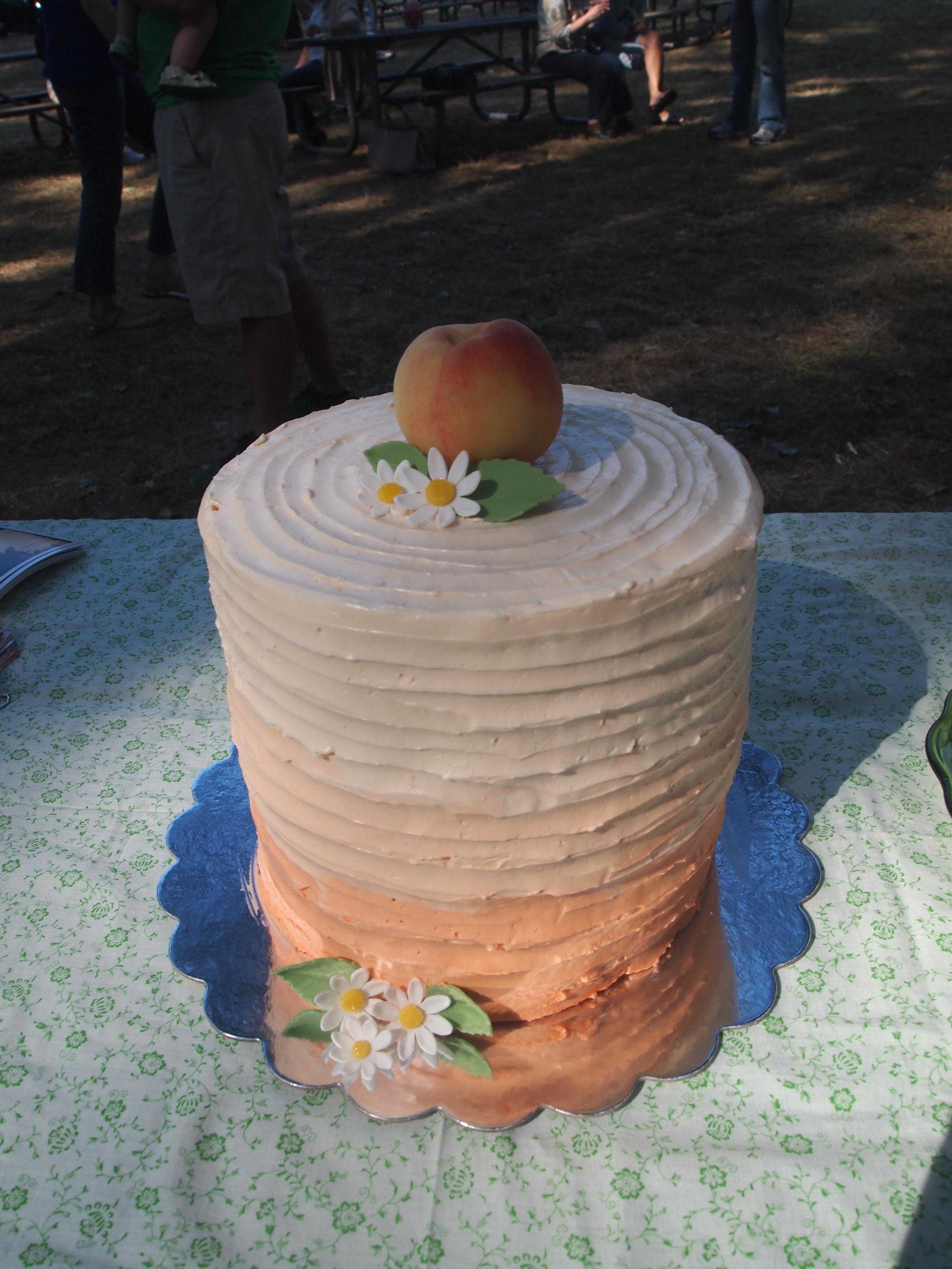 Vanilla Peach Ombre Cake