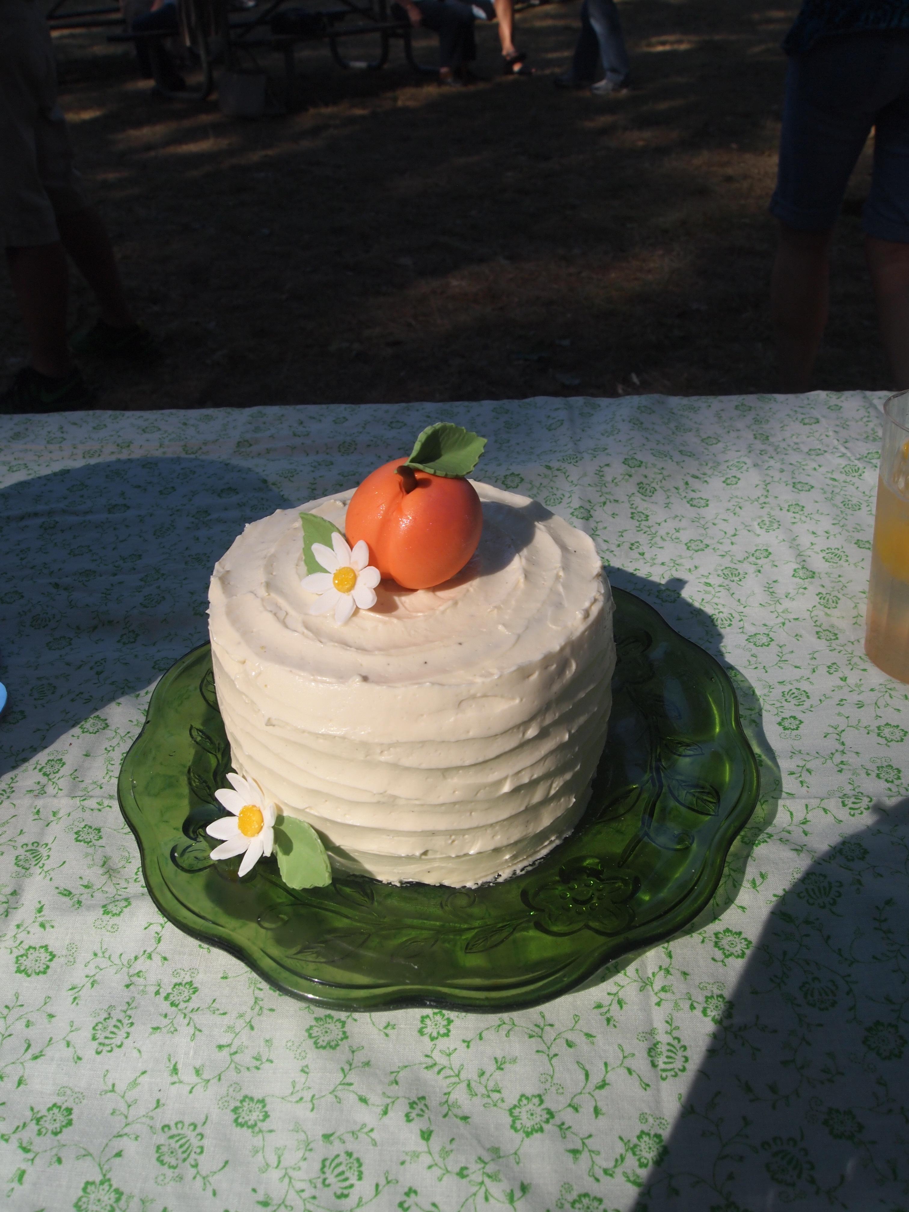 Vanilla Peach Smash Cake