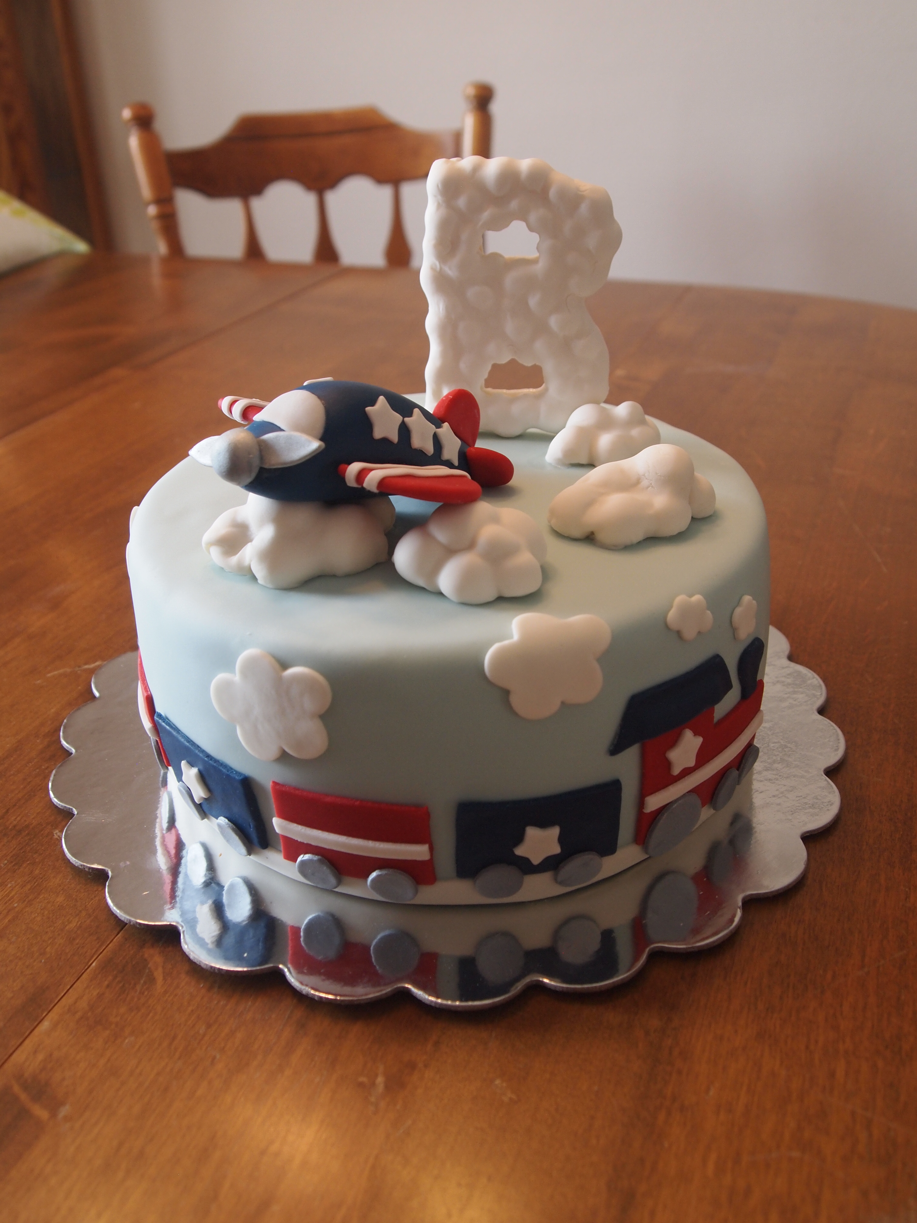 Baby Boy Transportation Cake