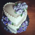 Heart-shaped Wedding Cake