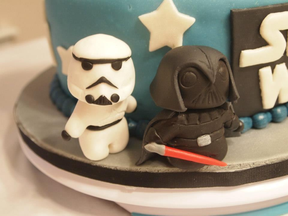 Storm Trooper and Darth Vadar