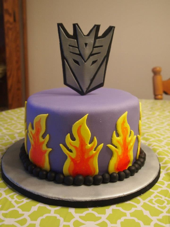Decipticon Flame Cake