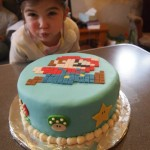 Mario Cake with Penny Photo Bomb