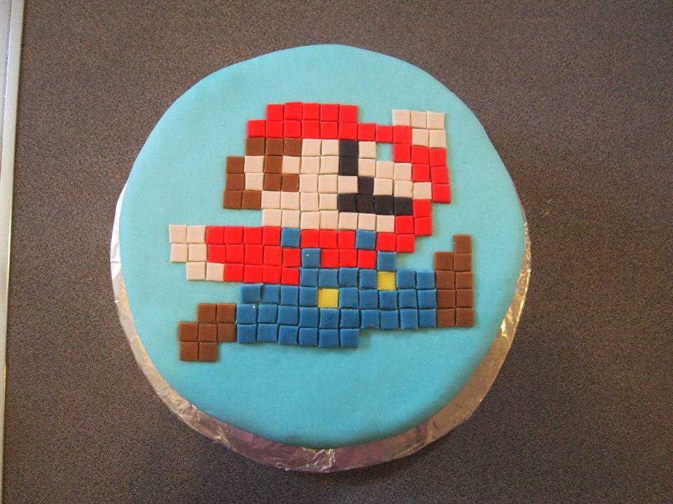 8-bit Mario Cake