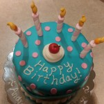 Cartoon Candle Cake