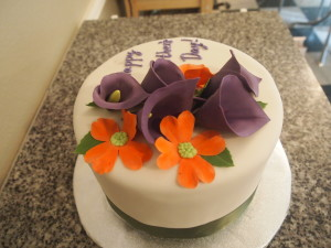 Purple Calla Lilly Cake