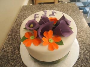 Purple Calla Lilly Cake