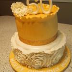 Glam Ruffle Rose Cake