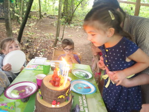 Ramona Blowing Out the Candles