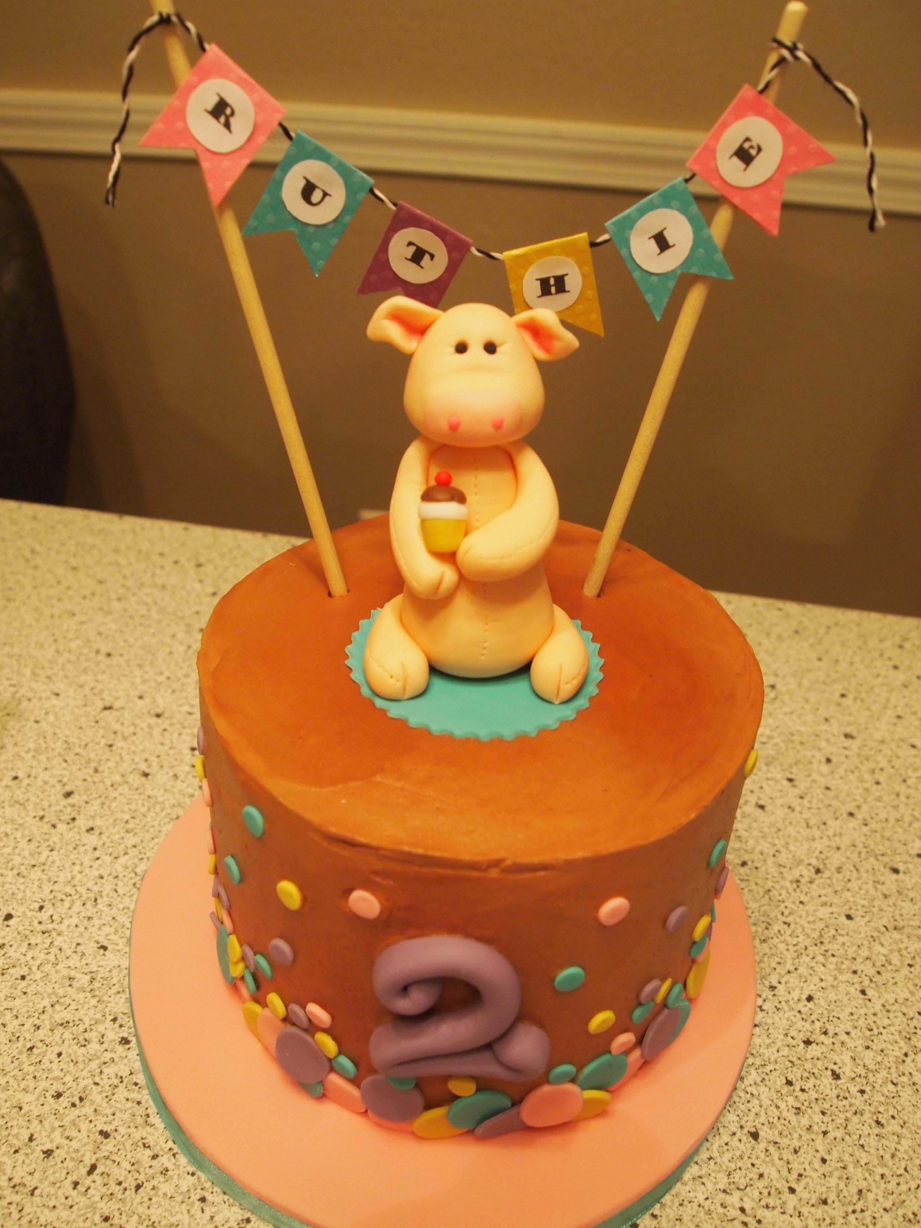 Ruthie's Piggy Birthday Cake