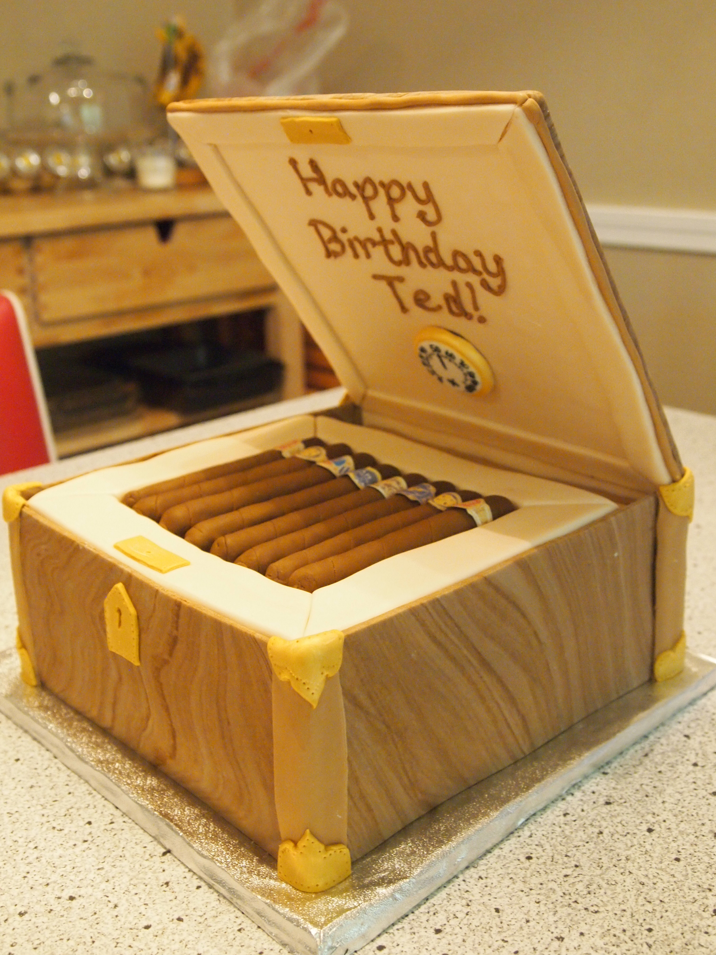 Cigar Box Cake Design