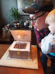 Cigar Box Birthday Cake